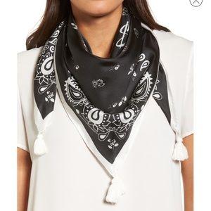 Rebecca minkoff paisley square 100% silk scarf